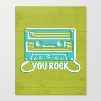 You Rock Canvas Print