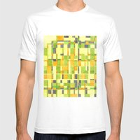 color field_01 Mens Fitted Tee White SMALL
