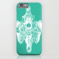 iPhone & iPod Case featuring Around the Coyote - Teal by Jason Castillo