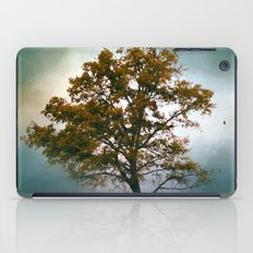 Touch of Teal Cotton Field Tree - Landscape iPad Case