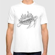 Urban Turtle Mens Fitted Tee White SMALL