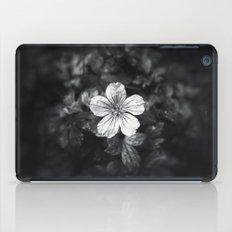 Minimalistic black and white flower petal iPad Case