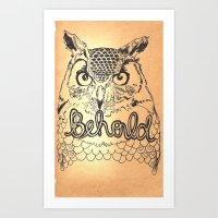 Owl Behold Art Print