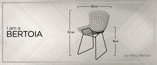 Chairs - A tribute to seats: I'm a Bertoia (intro) Art Print