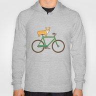 Corgi On A Bike Hoody