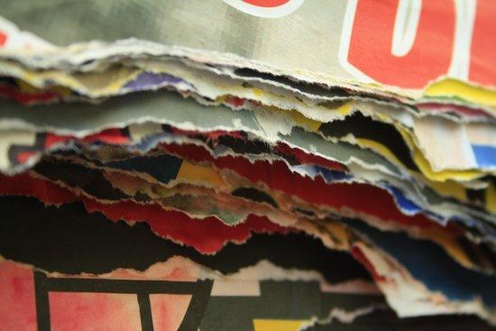 paper layers Art Print