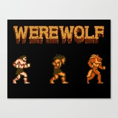 Unleash the beast- werewolf tribute Canvas Print
