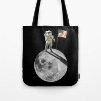 Man On Moon Tote Bag