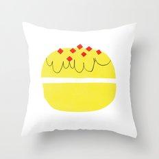 donut vs eclaire Throw Pillow