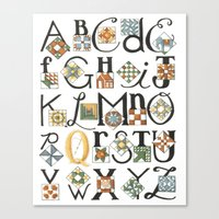 The ABC's of Quilting Canvas Print