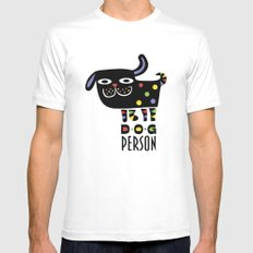 Dog Person Mens Fitted Tee White SMALL