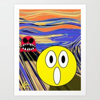 PacMan The Scream Art Print
