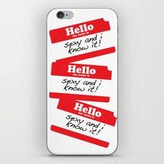 Hello my name is iPhone & iPod Skin