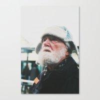 Man at the tram station, Goteborg, Sweden 2012 Canvas Print