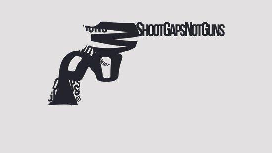 Shoot Gaps, Not Guns Canvas Print