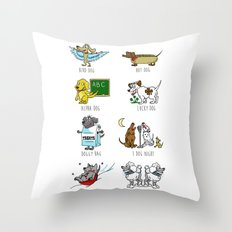 Know Your Dogs Throw Pillow