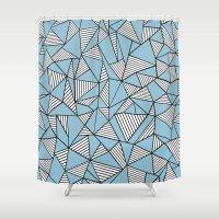 Ab Blocks Blue #2 Shower Curtain