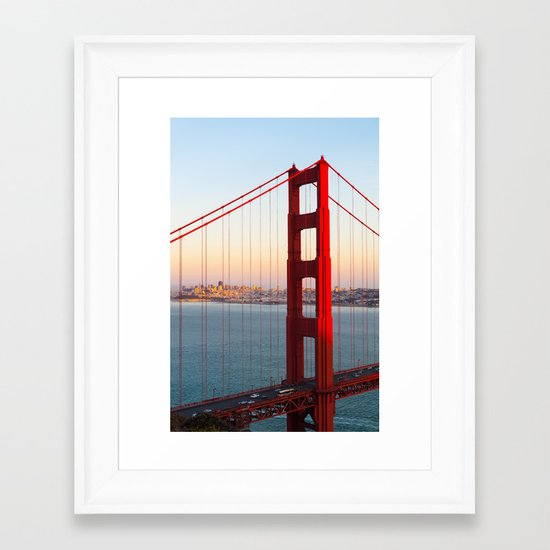 Golden Gate Bridge - San Francisco Framed Art Print