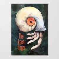 The Keen Finger Canvas Print