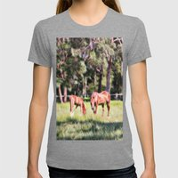 Horse And Foal Feeding I… Womens Fitted Tee Tri-Grey SMALL