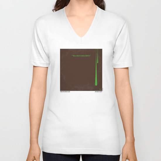 No004 My Alien minimal movie poster V-neck T-shirt