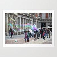 Madrid-life Art Print