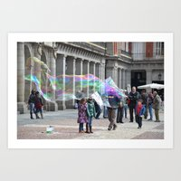 Madrid-life Art Print