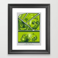 Title Screen BLUE Framed Art Print