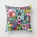 I LOVE U! Throw Pillow