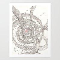 Santa Is Coming!!! Art Print