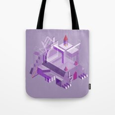 Den of the Headless Lion in Purple and Lavender Tote Bag