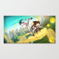 A Ride With Son Goku Canvas Print