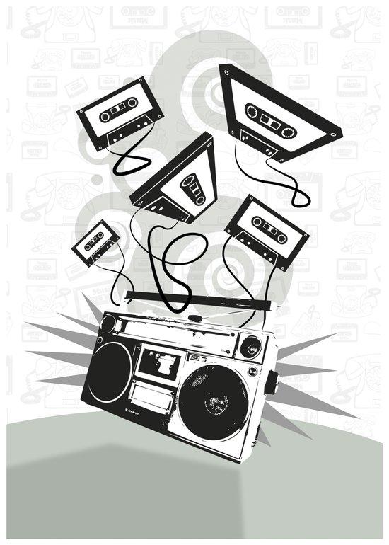 Funky music! Art Print