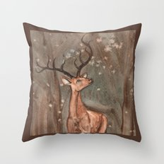 Orange Sky Throw Pillow