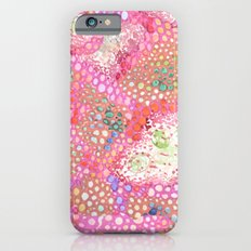Pink Cell Walls Watercolor Pattern Slim Case iPhone 6s