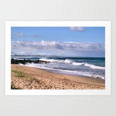 Bashams Beach Art Print
