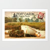 Postcard From My Travels Art Print