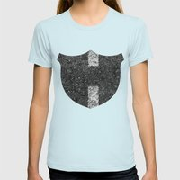 Texture N0. Womens Fitted Tee Light Blue SMALL