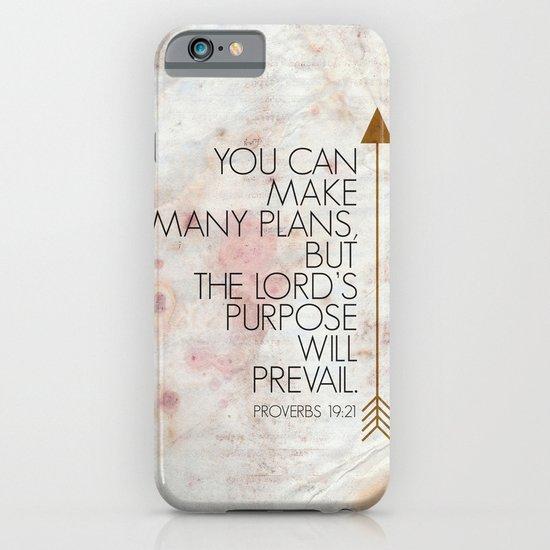 Purpose- Proverbs 19:21 iPhone & iPod Case