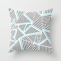 Ab Linear with Electric Throw Pillow