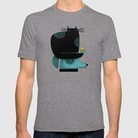 BLACK CAT ON HEAD Mens Fitted Tee Tri-Grey SMALL
