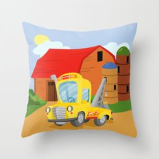 TOW TRUCK (GROUND VEHICLES) Throw Pillow