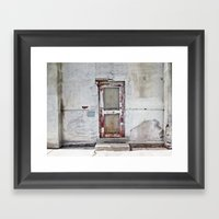 the door Framed Art Print