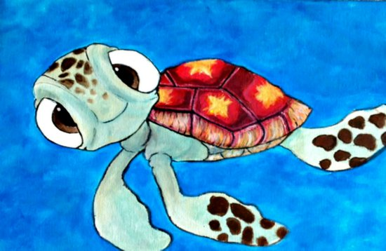 Squirt From Finding Nemo Art Print