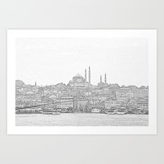 İstanbul Art Print