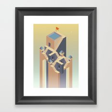 Castles in the sky Framed Art Print
