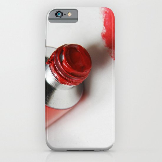 Painting Red #2 iPhone & iPod Case