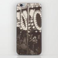 Fuzzy Carousel - B&W iPhone & iPod Skin