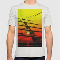 Under Sail 2 Mens Fitted Tee Silver SMALL