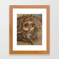 Boy on the Hill Framed Art Print